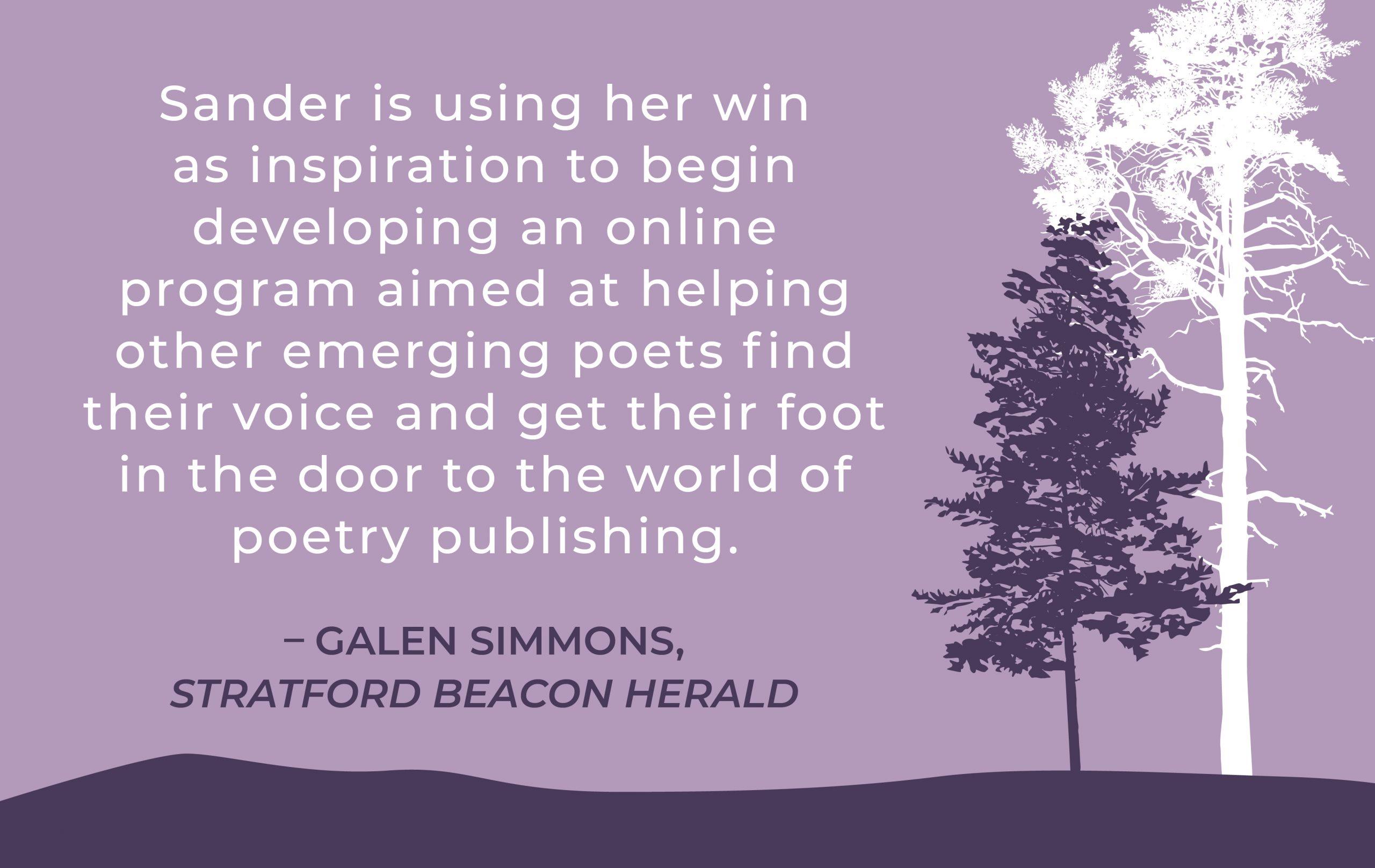 Heidi Sander Quote from Stratford Beacon Herald